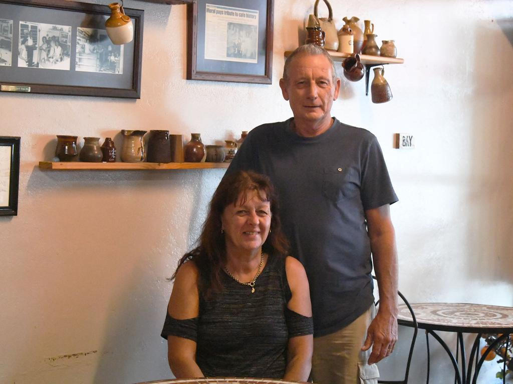 New owners of the Brown Jug Cafe, Mark and Jodie Paradise.
