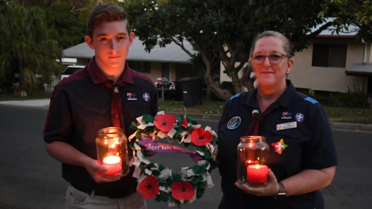 Hunter and Sandi Brown light up the dawn on Anzac Day