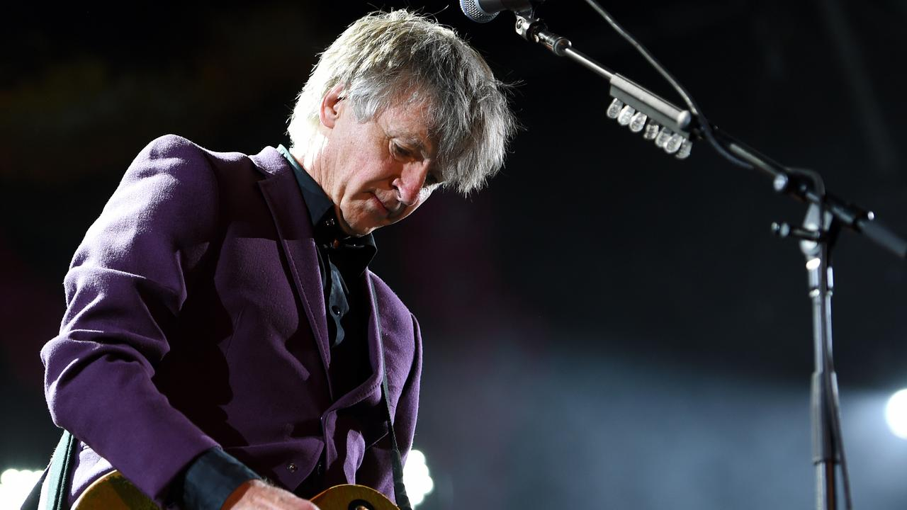 Neil Finn of Crowded House on stage at the Sydney Opera House. Pic: AAP Image