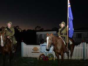 Honouring the Anzacs on horseback at dawn