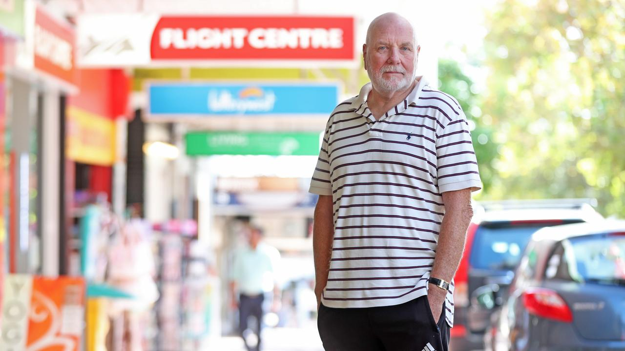 Retiree David Evans, 69, had four flight tickets booked to the US that he now can't take due to COVID-19 and he is hoping to get a full refund.