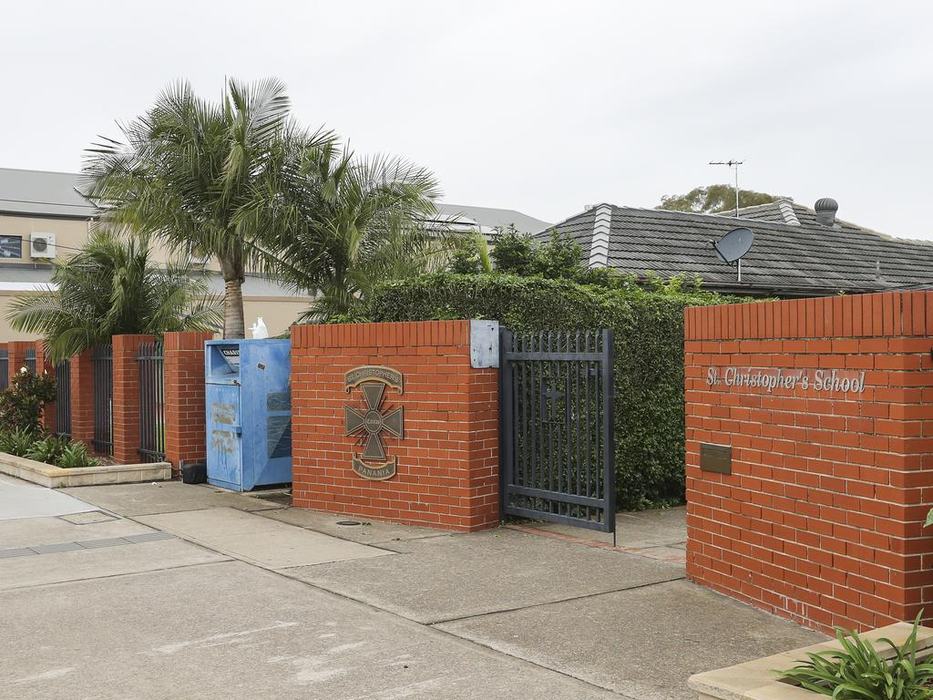 St Christopher's Catholic Primary in Panania. Picture: Dylan Robinson