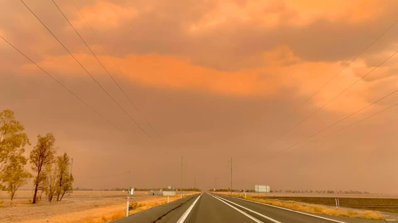 RED RAIN: The dust storm between Dalby and Chinchilla - January 2020. Pic: Jodie Williams