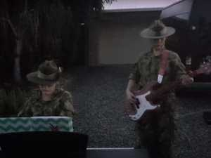WATCH: Twin sisters play the Last Post at dawn