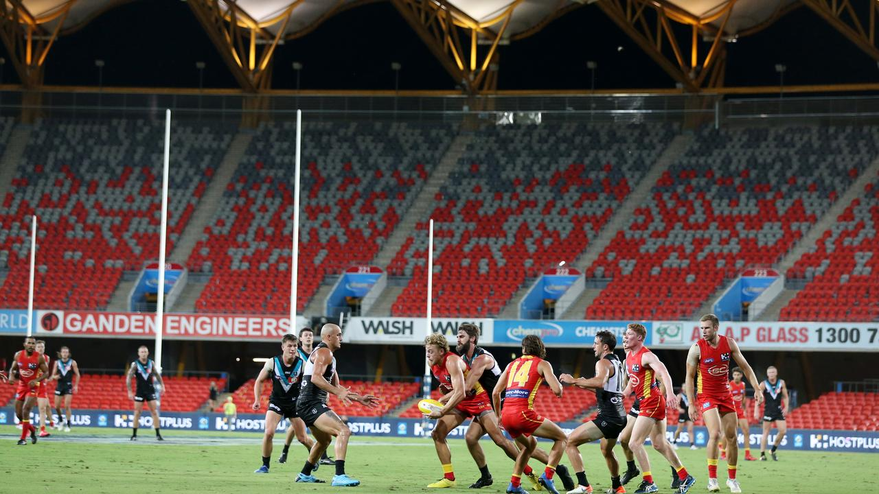 The Suns hosted the Power in Round 1 at Metricon Stadium. Picture: Getty