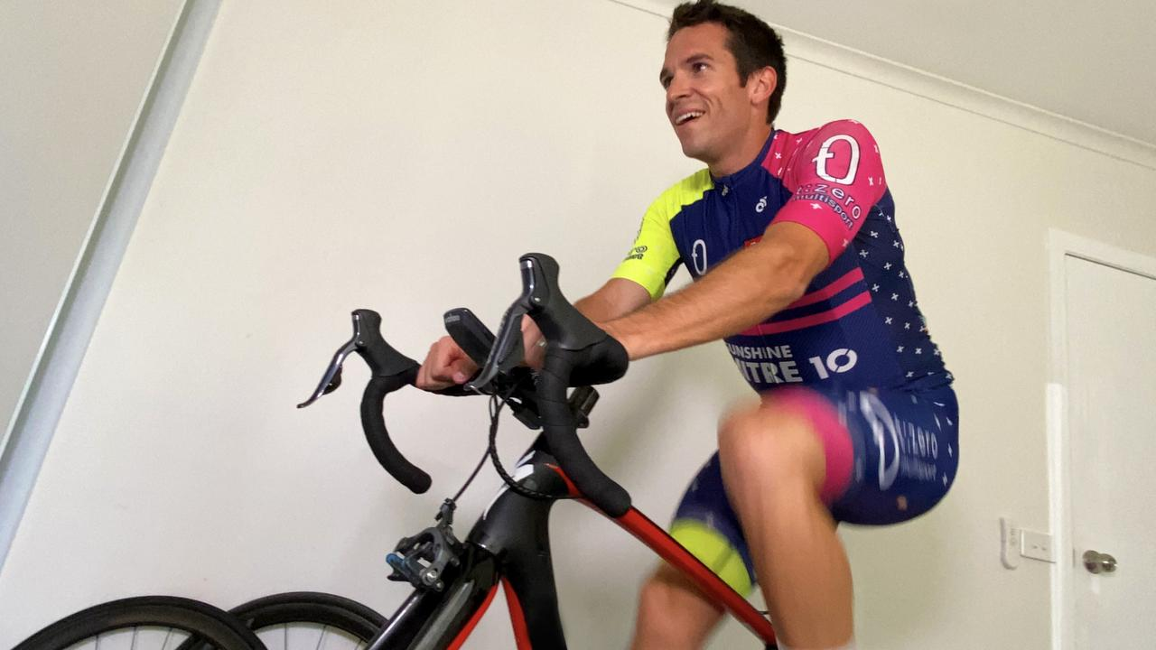 Ultraman athlete Richard Thompson will attempt to ride 500km in a day with his friend Damien Collins on their indoor bikes via the zwift program. PHOTO: Cody Osborne