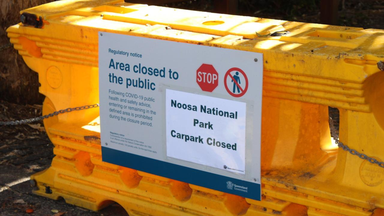 Parking at Noosa National Park was closed due to the coronavirus outbreak. Photo: Michele Sternberg