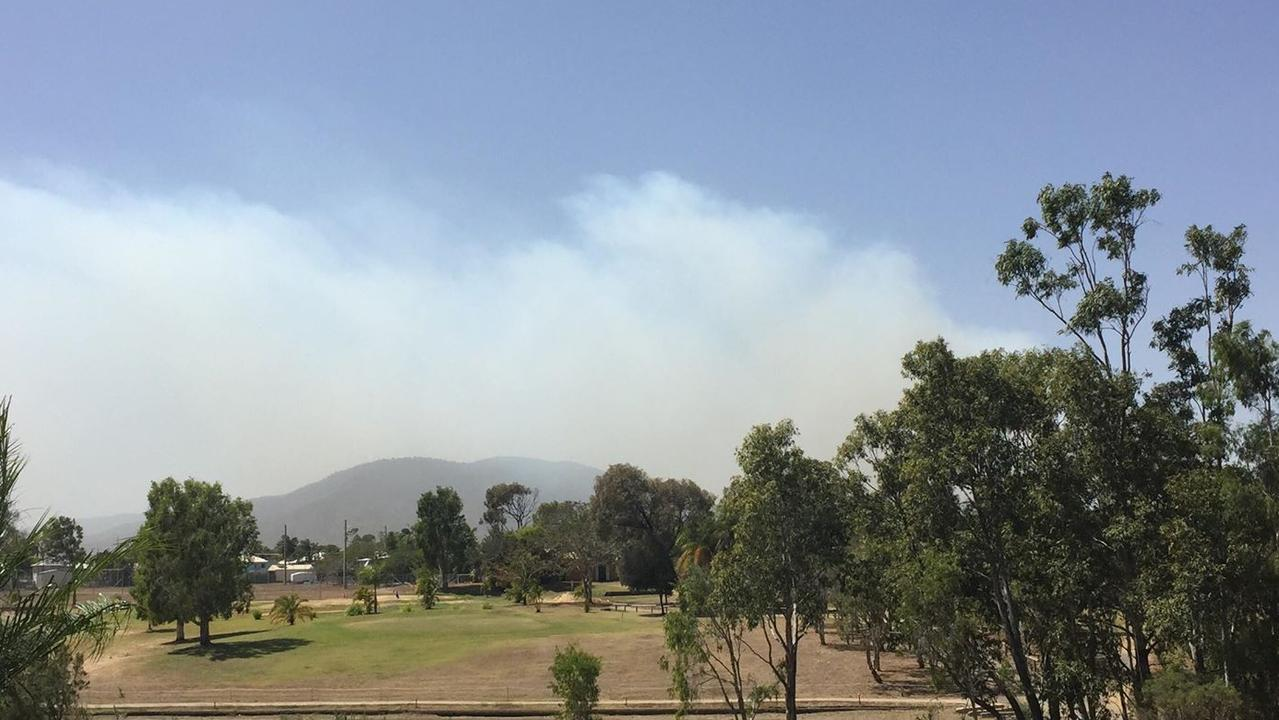 A view of smoke coming off Mount Archer, looking from the North Rockhampton Golf course. Picture: FILE