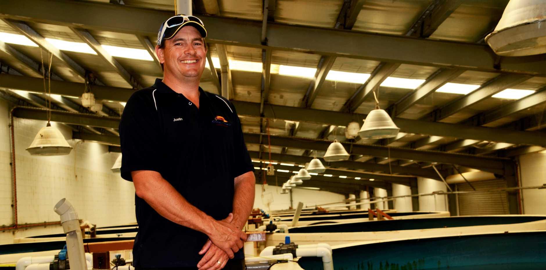 Coral Coast Barramundi farm manager Justin Forrester. Photo: Mikayla Mayoh