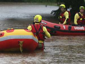 SEARCH AND RESCUE: Car submerged in water