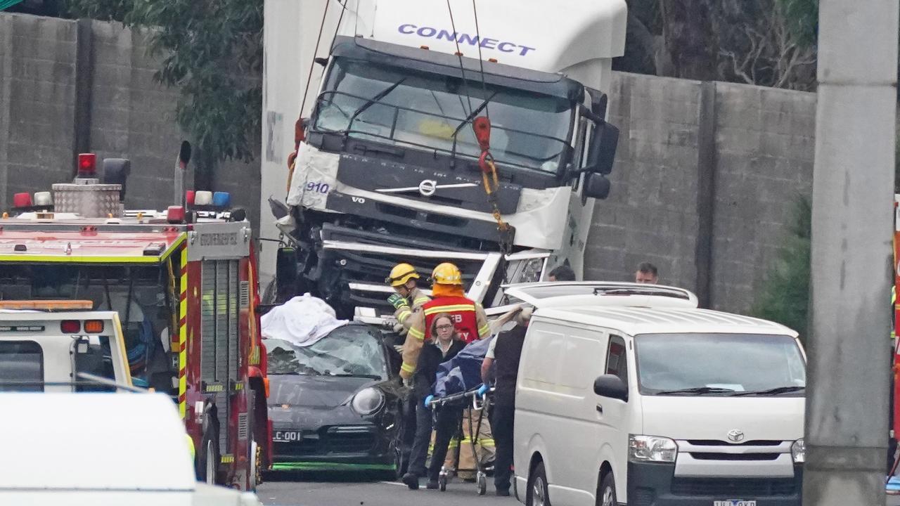 The crash scene in Kew last week. Picture: Scott Barbour/AAP