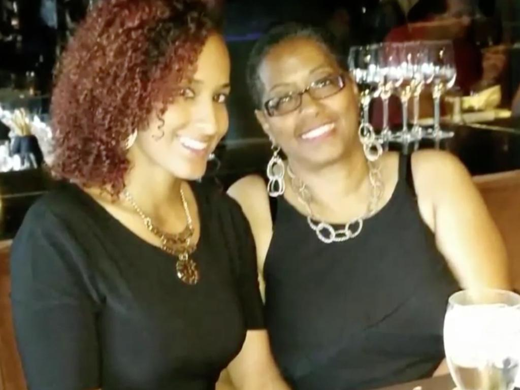 A US healthcare worker, Deborah Gatewood (pictured right) has died from coronavirus after being denied a test four times, her daughter (pictured left) claims. Picture: Philippe Desmazes / AFP. Picture: Fox 2