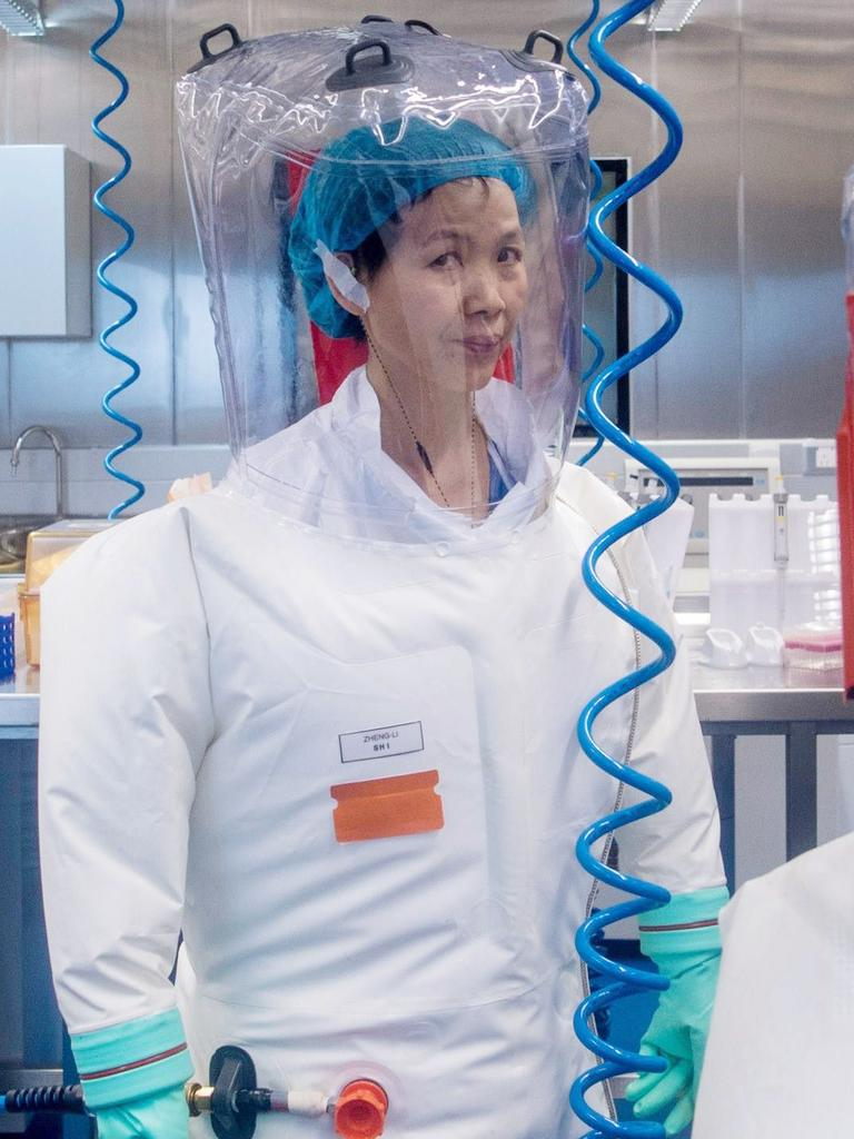 Chinese virologist Shi Zhengli inside the P4 laboratory in Wuhan. Picture: AFP