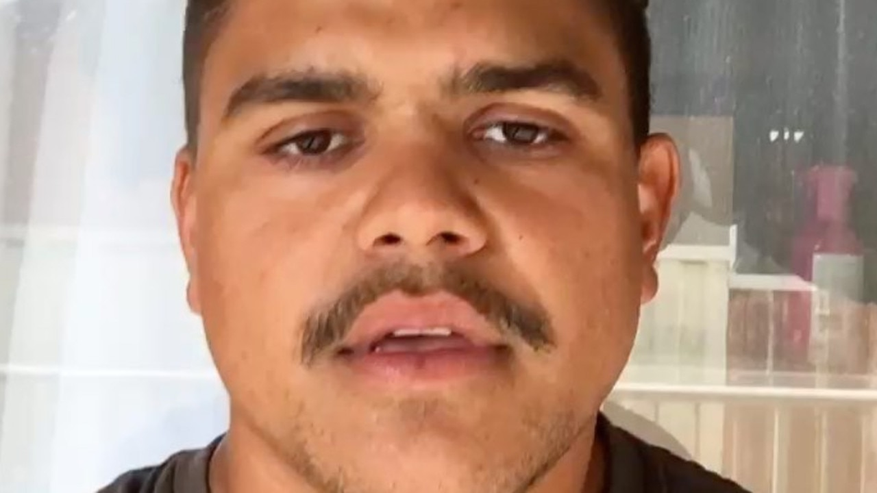 Latrell Mitchell apologised on social media. Picture: Instagram