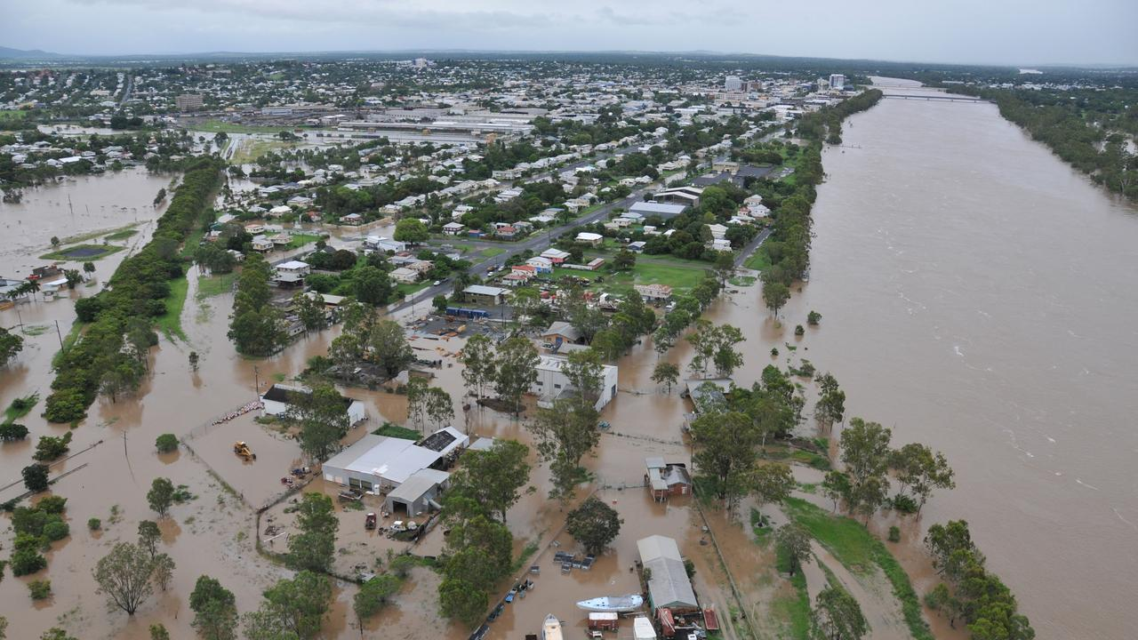 The Fitzroy River in Rockhampton reached 9.2m in the 2010-2011 flood.