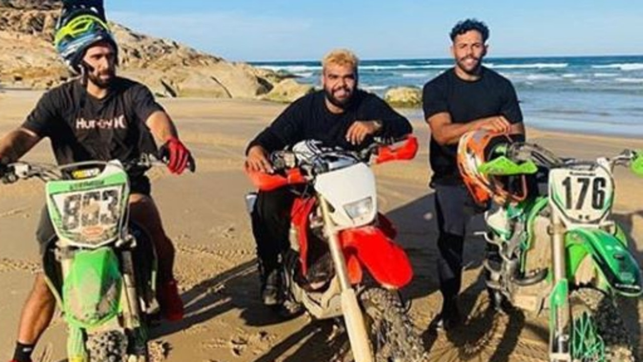 The group used the time to head out on trail bikes.
