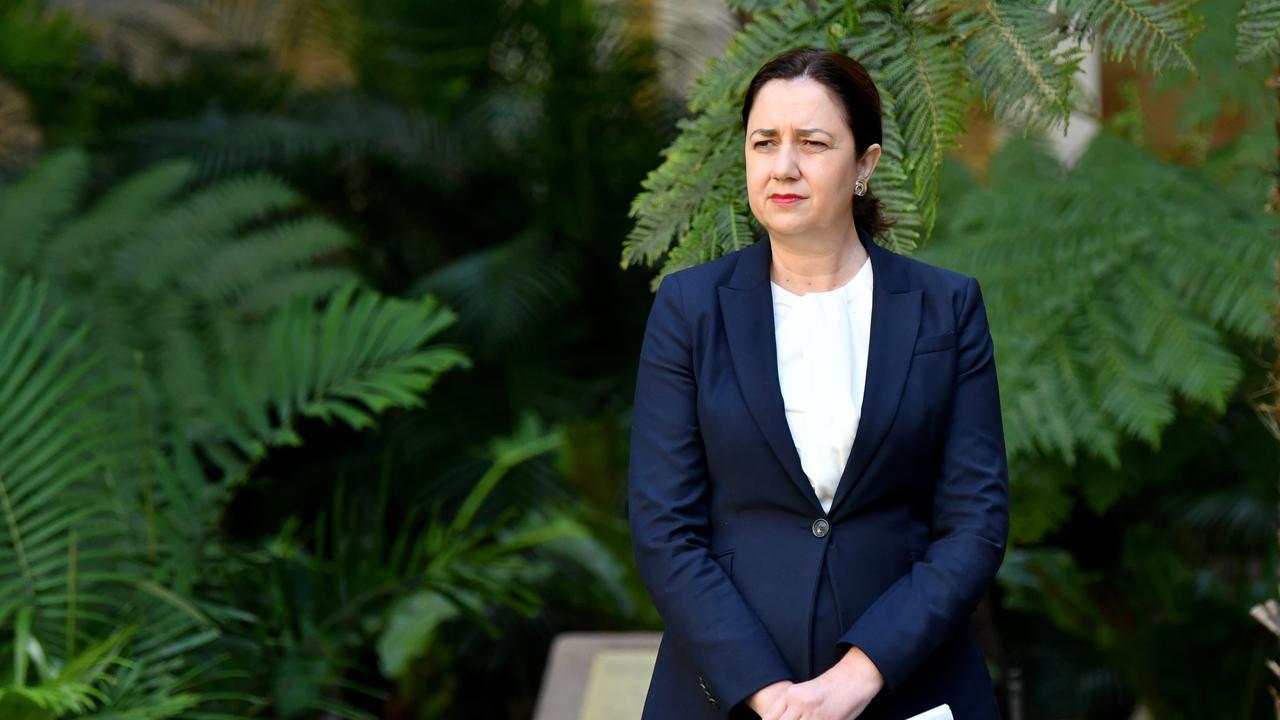 Queensland Premier Annastacia Palaszczuk. (AAP Image/Darren England)
