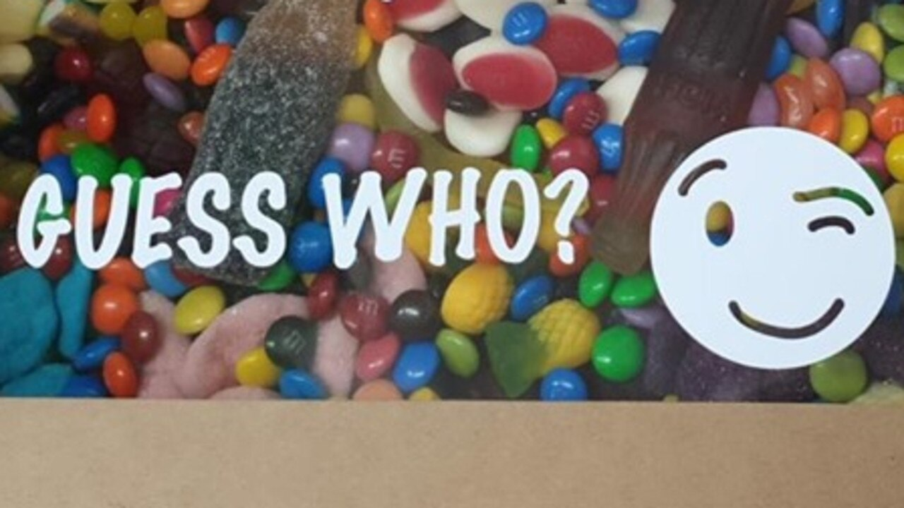 Who is sending Gympie child care workers lovely lolly gift boxes?