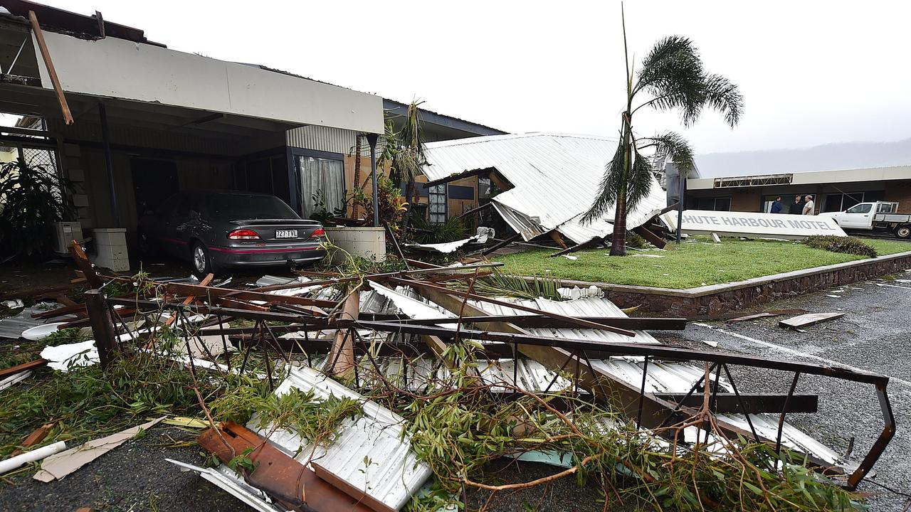 Cyclone Debbie aftermath in Airlie. Shute Harbour Motel destroyed by Cylone Debbie. Photo: Alix Sweeney.