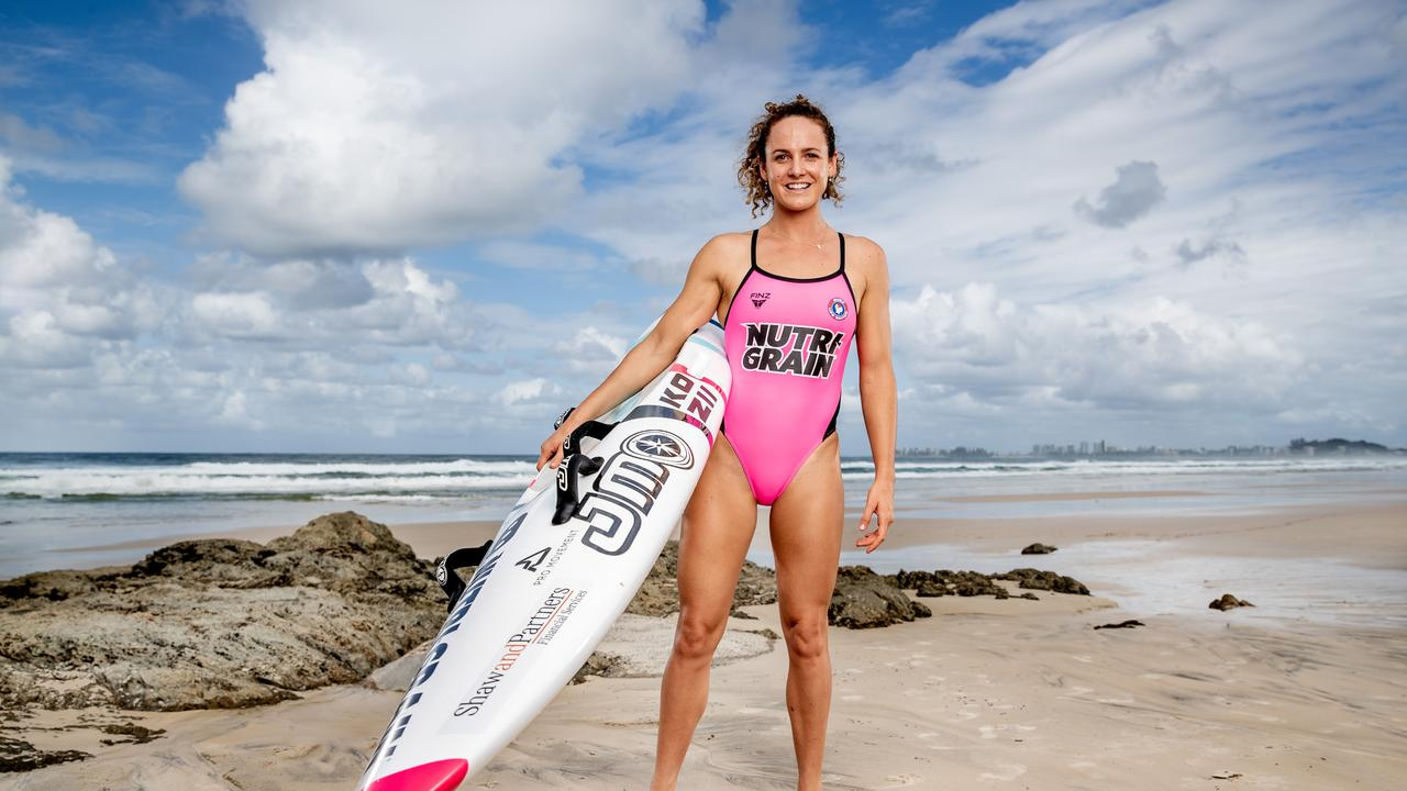 Noosa Head's lifesaver Jordan Mercer will be immortalised on Nutri-Grain packs just like her father Darren once was to commemorate the 40th anniversary of one of Australia's most iconic ad series. PHOTO: LUKE MARSDEN