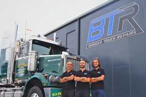 Peter McGregor, Lindsay McGregor, and Timothy McGregor from Border Truck Repairs.