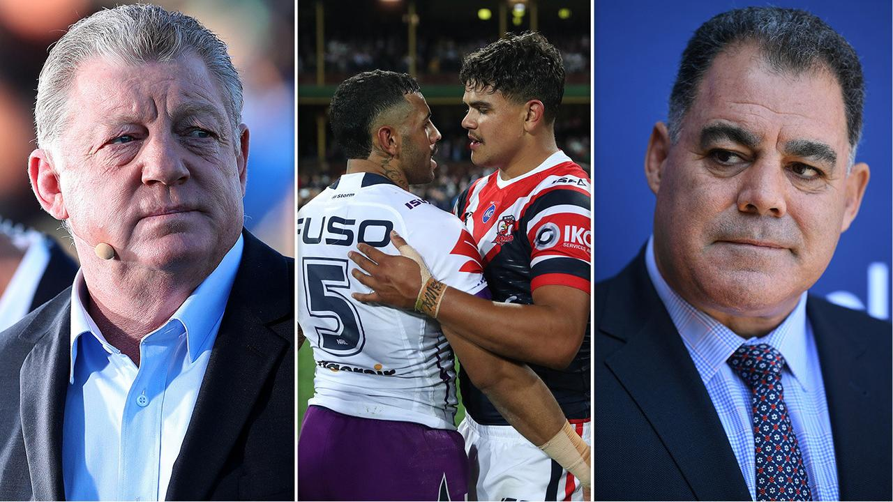 Phil Gould and Mal Meninga have savaged Latrell Mitchell and Josh-Addo-Carr.