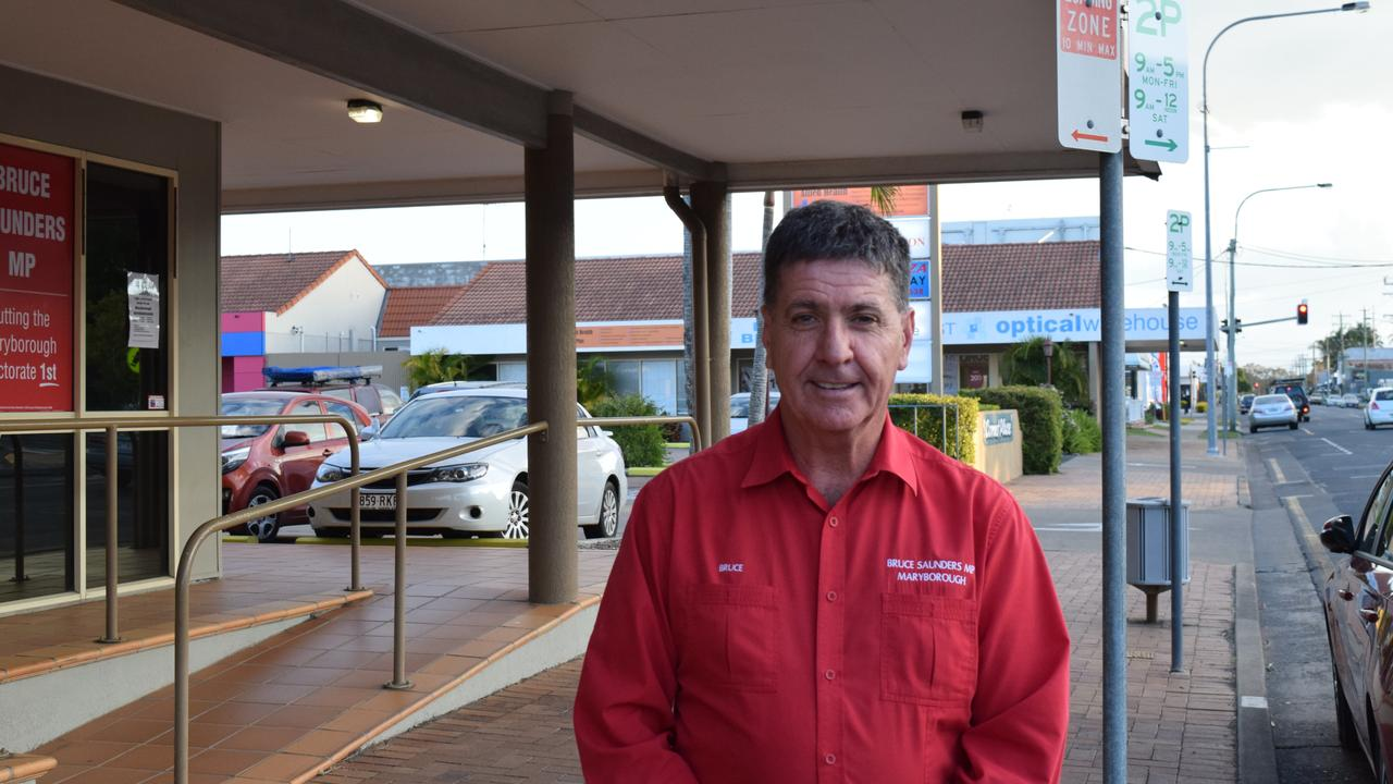 Maryborough state member Bruce Saunders.