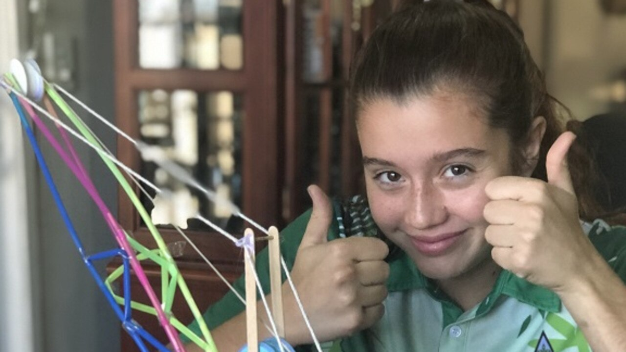 Moranbah's Ana-Lucia Reyes, 13, took out the top prize for her artwork Classic Dragline in Isaac Regional Council's #isocreate art competition.