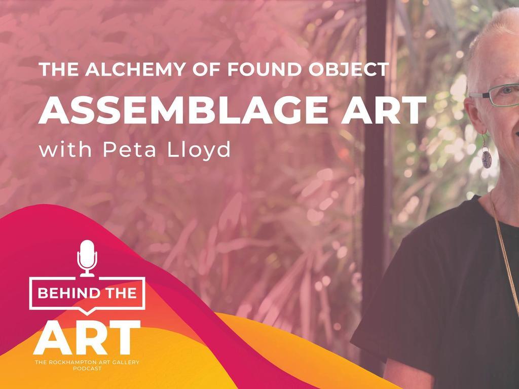 Rockhampton Muesum of Art's advertisement promoting artist Peta Lloyd's podcast talk about
