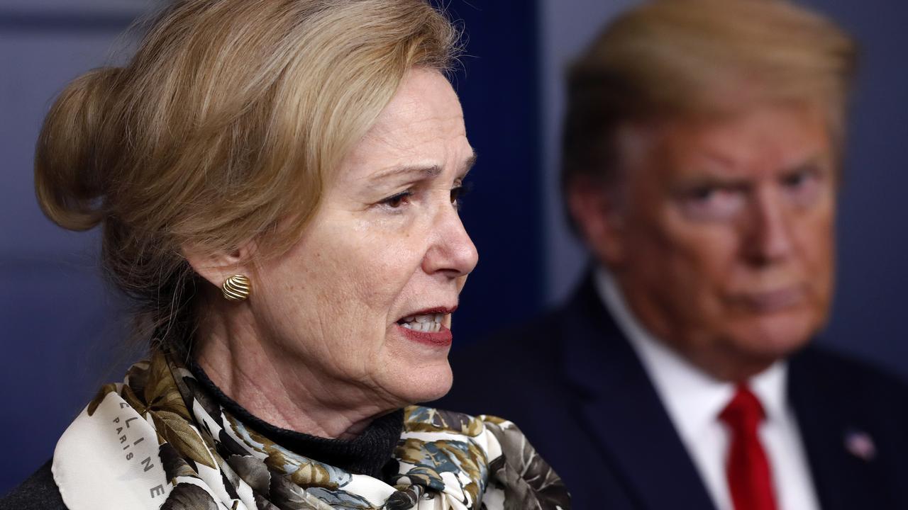 Dr Deborah Birx and President Donald Trump. Picture: Alex Brandon/AP