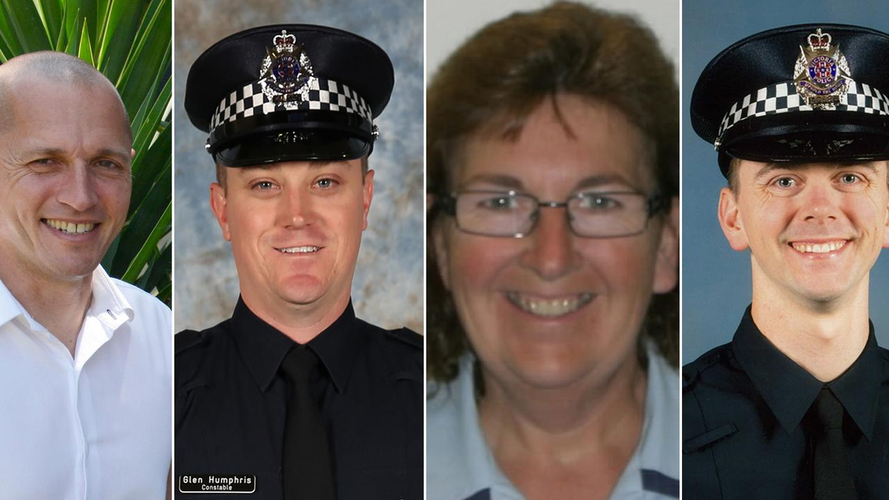 Senior Constable Kevin King, Constable Glen Humphris, Leading Senior Constable Lynette Taylor and Constable Joshua Prestneyl be farewelled at private funerals this week.