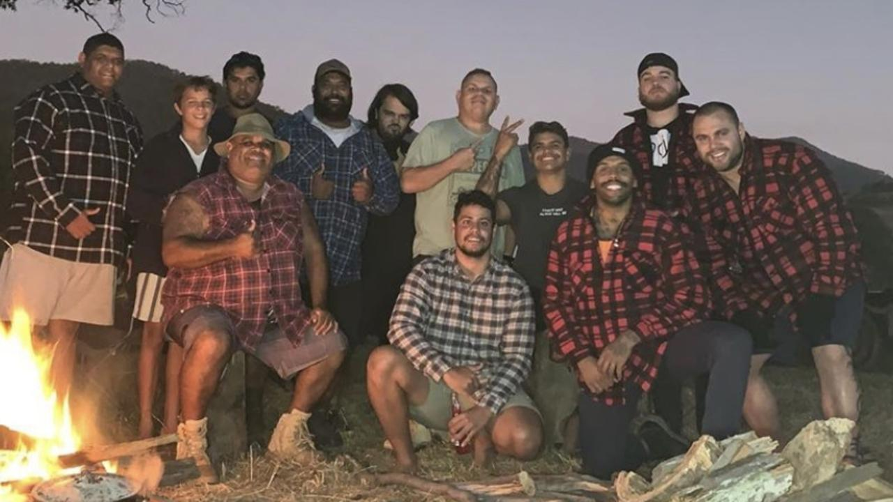 Josh Addo-Carr and Latrell Mitchell breached social distance rules on a camping trip. Picture: Instagram