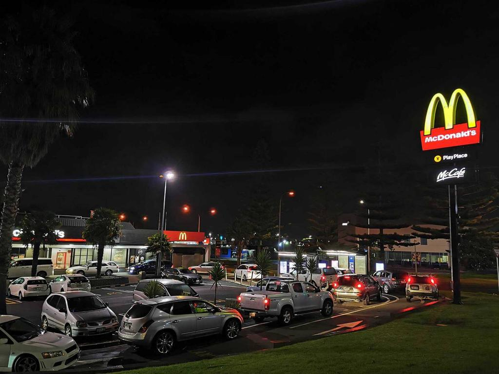 There have been long queues at Macca's in New Zealand as lockdown eases. Picture: Will Trafford