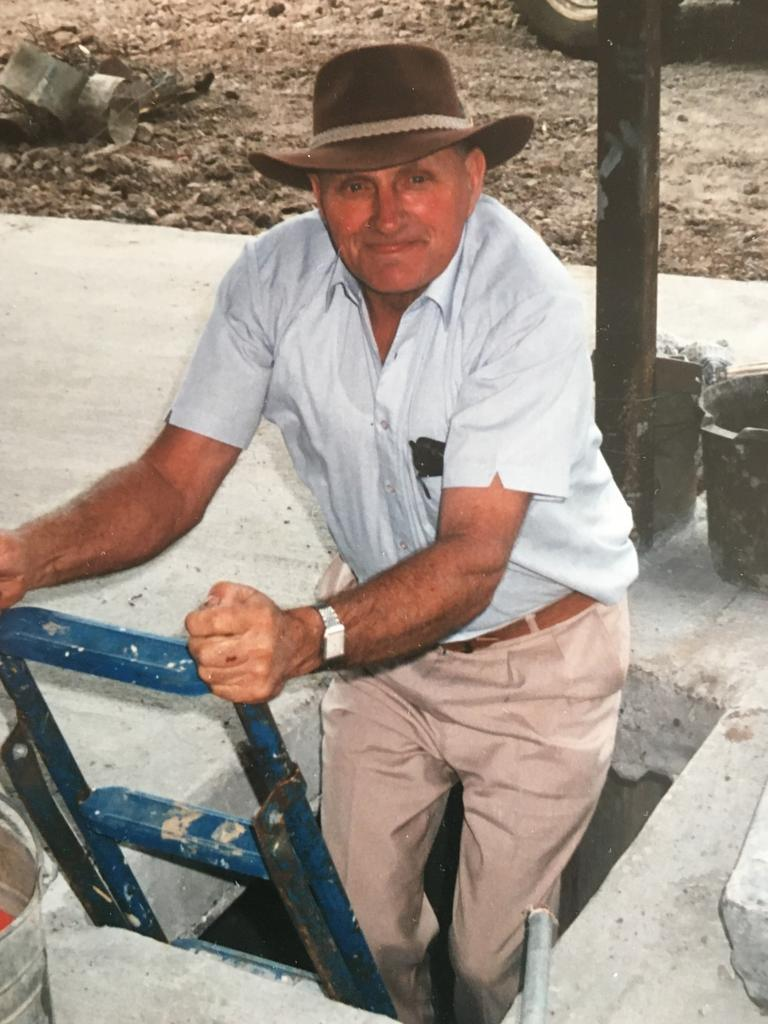 Mr Kruger working on his farm years ago.