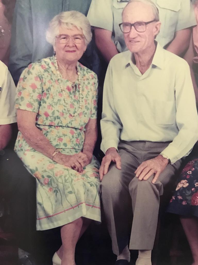 Beryl Hall (nee Hardwick) and her husband Joe Hall. Picture: Contributed.