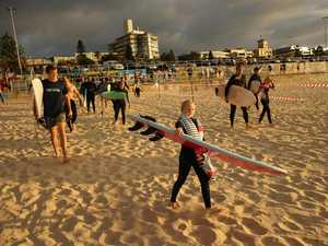 Bondi Beach busy as iconic surf reopens