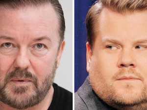 Gervais reignites James Corden feud