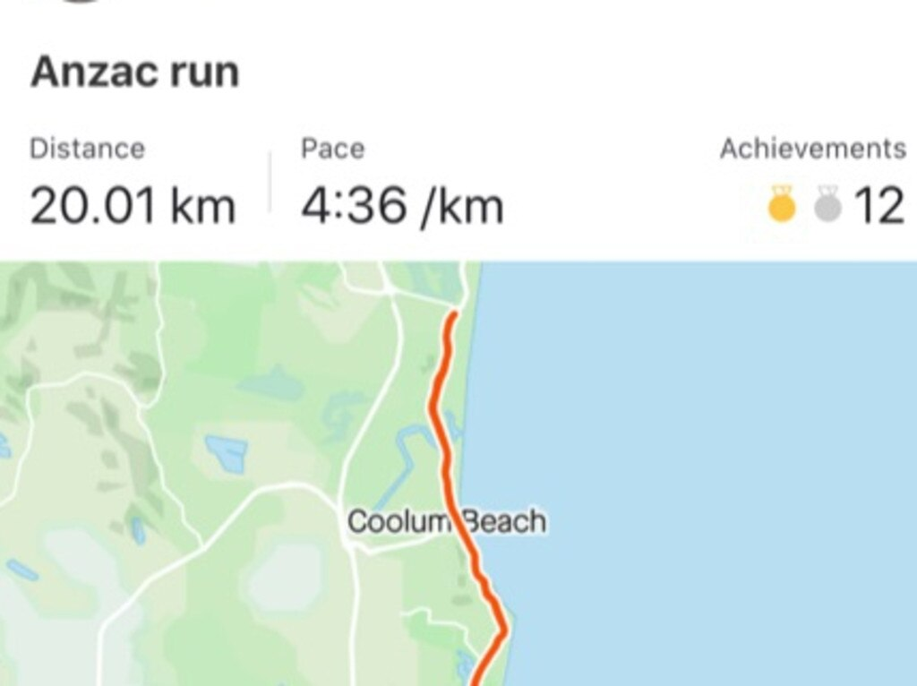 Buderim Wanderers player Lachlan Muir recorded this rapid time on Strava to keep fit during the lockdown.