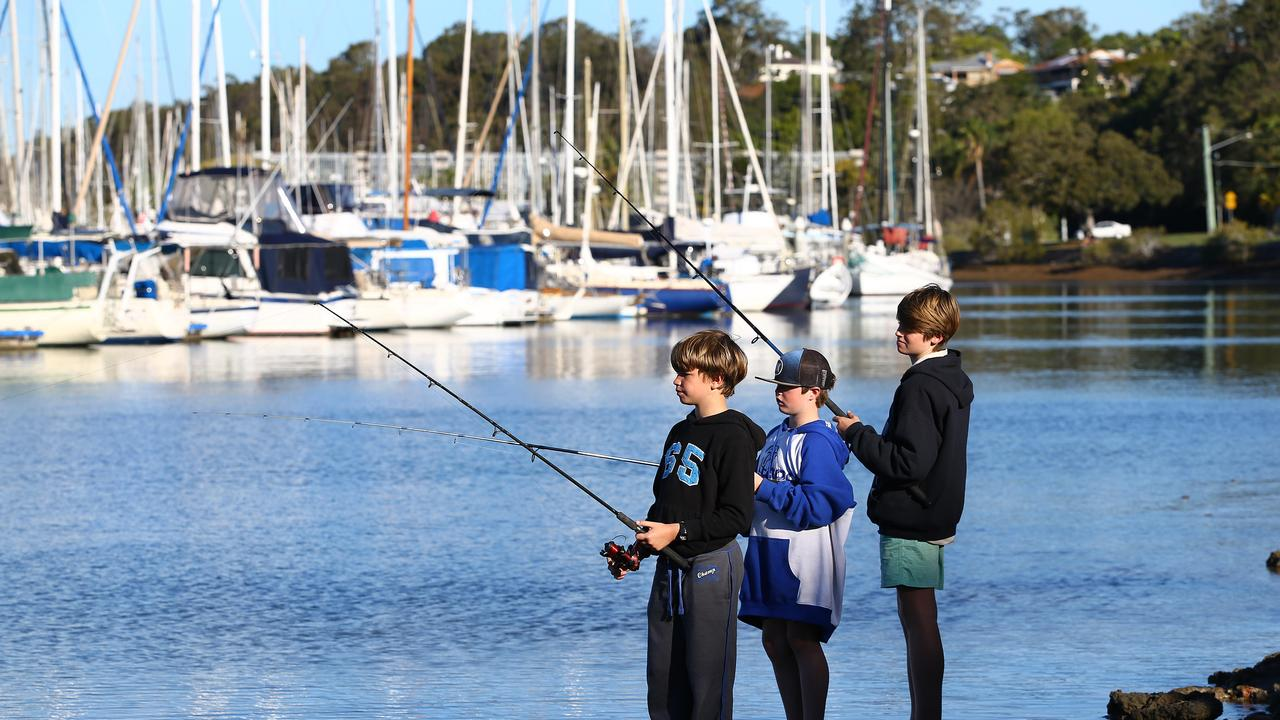 Fishing is considered a reasonable excuse to be out although only two people can fish together unless they adults with dependent children. Picture: Peter Cronin