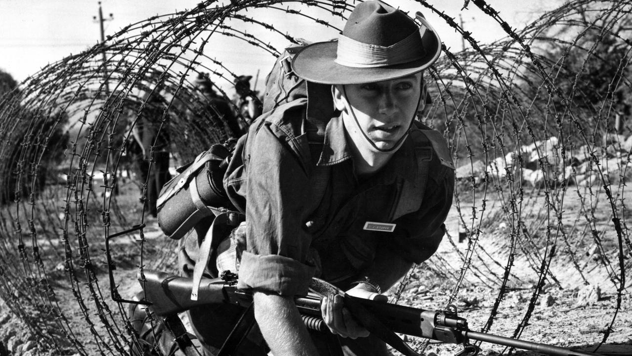 A national service trainee at Puckapunyal in 1966.