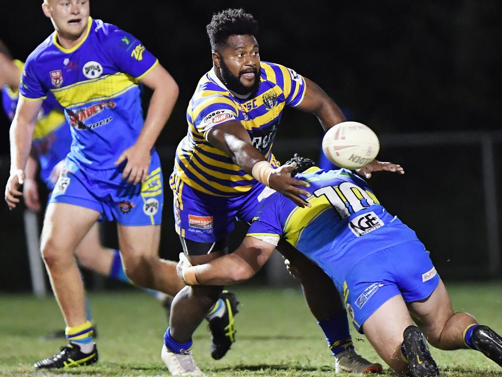 Noosa Pirates' Rusiate Neikini in action against the Gympie Devils.