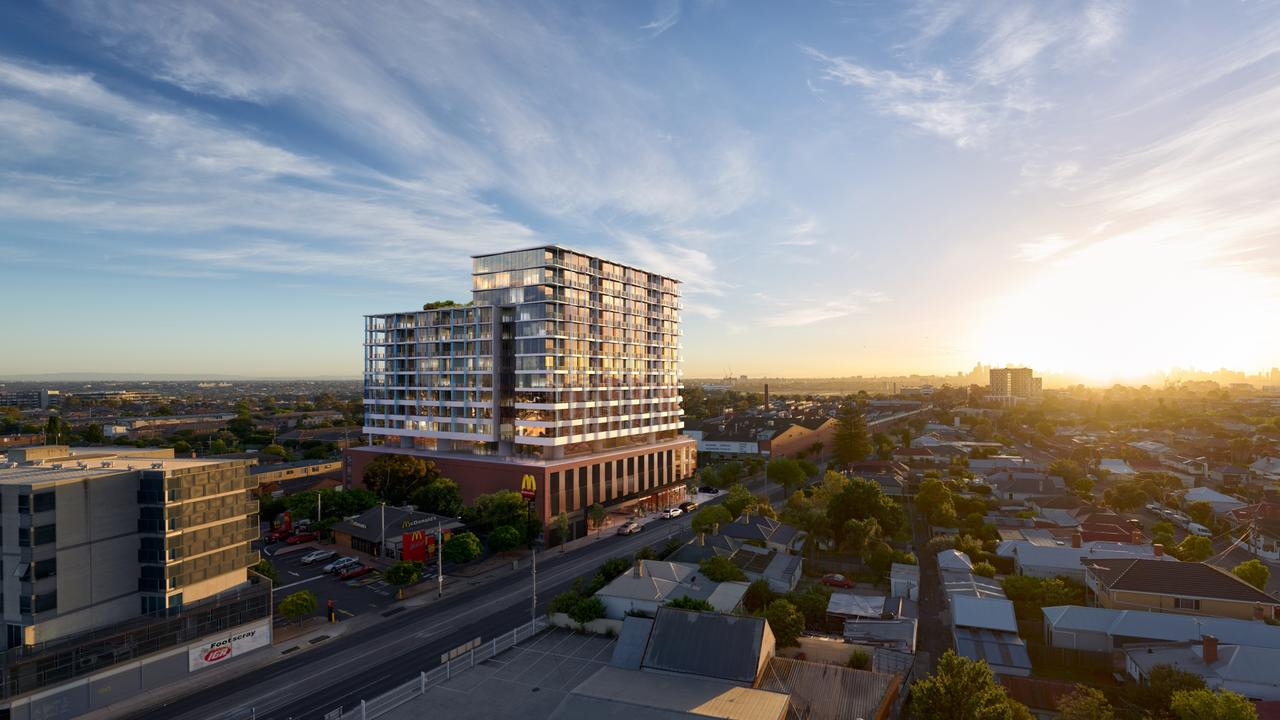The popular development recently set a record for the suburb.