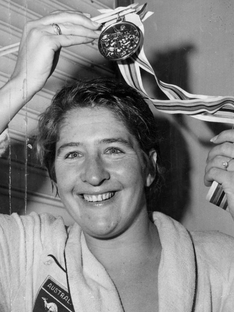 Aussie swimmer Dawn Fraser.