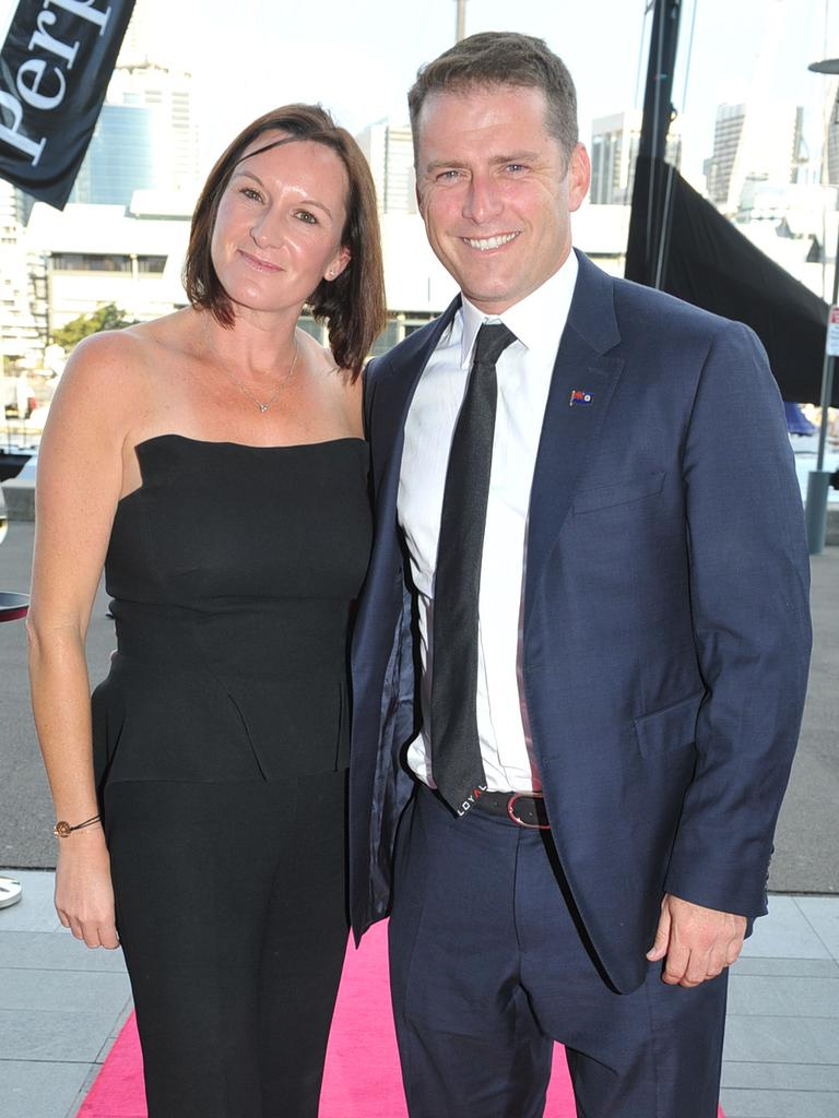 Cass and Karl at a gala dinner in 2014. Picture: Belinda Rolland