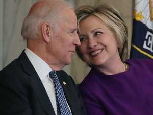 Clinton takes aim at Trump as she endorses Biden