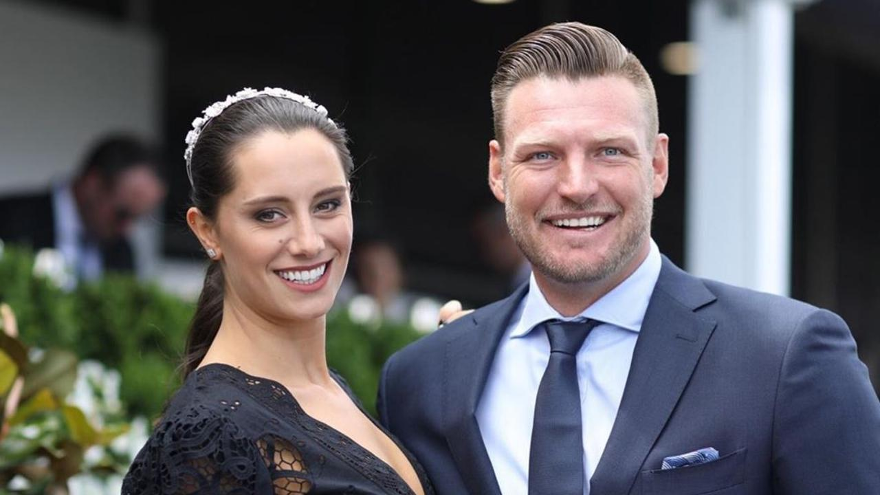 Sam Groth with wife Brittany.