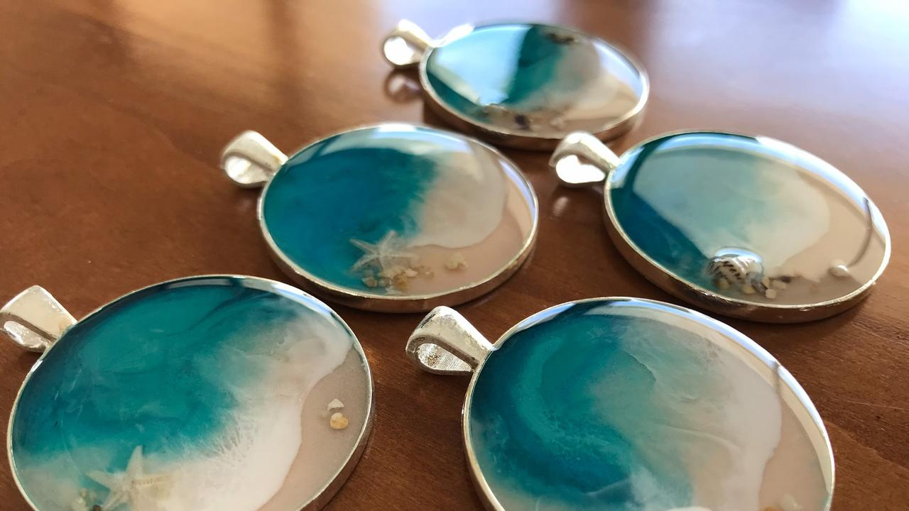 Yeppoon Artist Julie Stewart has a variety of resin pieces on offer this Mother's Day.
