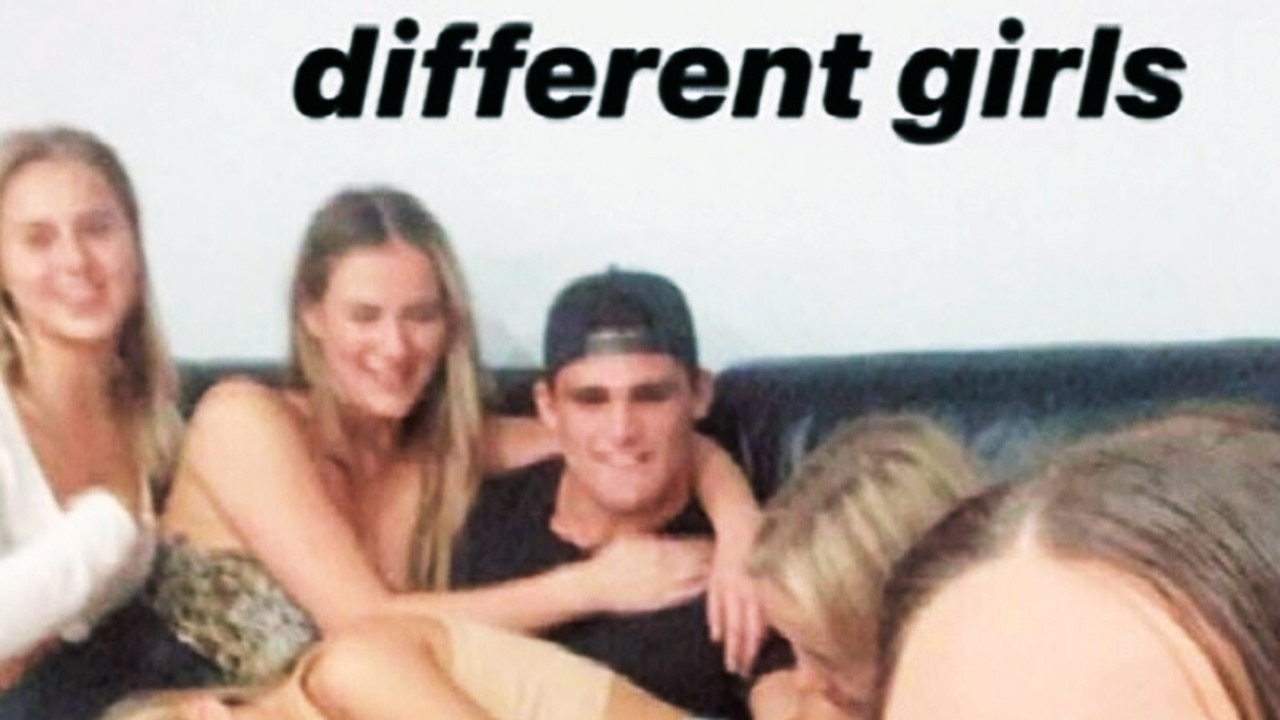 Nathan Cleary has been caught breaking social distancing laws on Anzac Day. Supplied