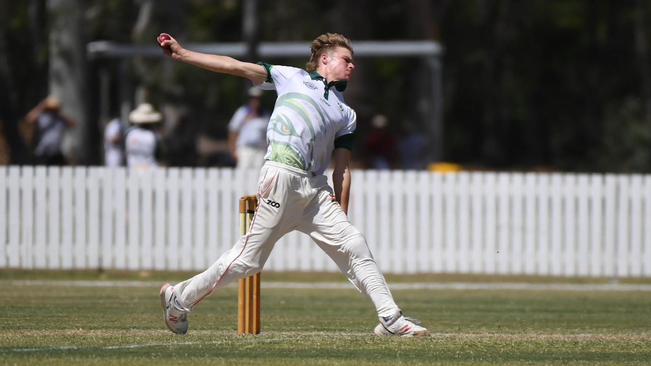 Max Norris-Kvikne in full flight in his first A-grade season with the Frenchville Falcons.