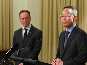 China interrupts minister's press conference